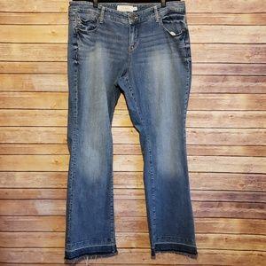 Torrid Slim Boot Jeans with Raw Hems